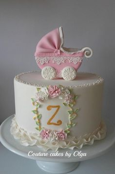Christening cake by Couture cakes by Olga