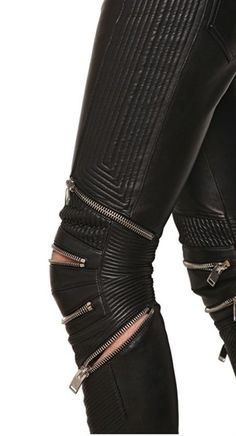 YSL  zipped leather trousers