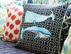 Whale Pillow!  20 Creative Ways to Make Your Own Pillows via Brit + Co.