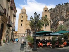 Cefalu, Sicily. My mom was baptized in the this cathedral.