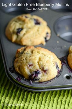 These Blueberry Muffins taste just as sweet and delicious as regular blueberry muffins but are gluten free and lower in calories!