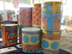 Drums made out of formula tins  This site has some great ideas!!