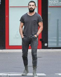 Going solo: Shia LaBeouf cut a lonesome figure when he was pictured out and about in Paris on Friday