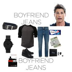 """""""Boyfriend Jeans"""" by chairityj-1 ❤ liked on Polyvore featuring Topman, Giuseppe Zanotti, Christian Dior and Prada"""