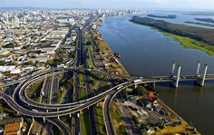 Ponte do Guaiba e centro ao fundo- RS