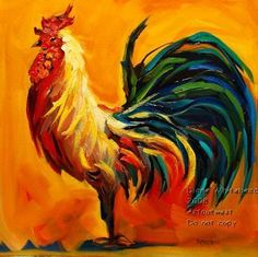 rooster artwork framed for kitchen | Older Than That Bison - by Diane M Whitehead from
