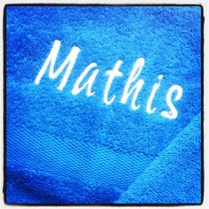embroidered towel- embroidered name