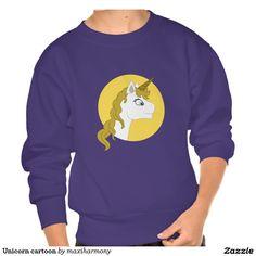 Unicorn cartoon pullover sweatshirts