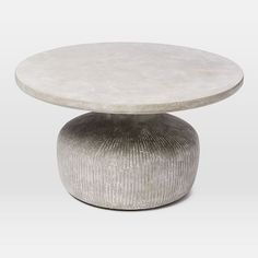 Tambor Concrete Outdoor Drum Coffee Table West Elm Within Prepare 15 Coffee Table And Side Table Set, Coffee Table Cover, Drum Coffee Table, Concrete Coffee Table, Round Coffee Table, Side Tables, Round Tables, Modern Outdoor Coffee Tables, Outdoor Side Table