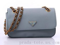 Authentic #Prada BT0750 Handbags in Aqua Blue onnline sale