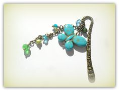 Aqua Turquoise Green Bookmark Charm Butterfly Charm Reading Charm Gift by SimplyPrettyJewels on Etsy