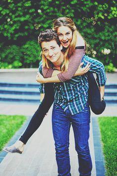 Miles Teller and Shailene Woodley