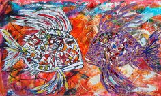 Veritable explosion of color by Stjepko Mamic - Art People Gallery Glow Effect, Contemporary Paintings, Cool Drawings, Canvas Size, Gallery, Mixed Media, Lovers, Color, Art
