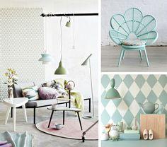 Arredare con i colori pastello, angolo di salotto in tonalità verde #pastel #color #inspiration #home #decor #green