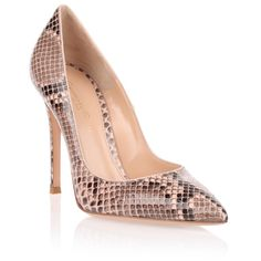 Gianvito Rossi Gianvito 105 Python Pump ($520) ❤ liked on Polyvore featuring shoes, pumps, heels, sapatos, pink, pink shoes, pink pumps, heels stilettos, high heel shoes and stiletto pumps