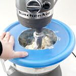 Get the most out of your kitchenaid mixer tips. love the idea of using an old plastic lid for splash guard!