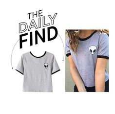 """The Daily Find: Alien Print T-Shirt"" by polyvore-editorial ❤ liked on Polyvore featuring Chicnova Fashion and DailyFind"