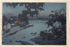 View and purchase art by Hiroshi Yoshida and other Japanese artists. Extensive online gallery includes hundreds of fine prints. Japanese etchings, wood block, silkscreen, stencil from famous artists. Kunst Online, Online Art, Hiroshi Yoshida, Toledo Museum Of Art, Art Occidental, Japanese Woodcut, Japanese Painting, Landscape Prints, Parcs