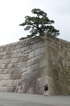 Tokyo Imperial Palace: Massive stone walls. #Masonry #Stone_Wall #Tokyo_Imperial_Palace