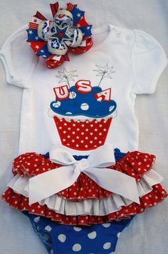 fourth of july baby bow tie