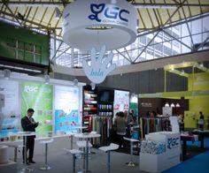 Fotos de los stand diseñados y construidos para Goma Camps y Thomil para la feria ISSA/Interclean de Amsterdam