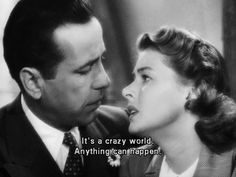 Humphery Bogart and Ingrid Bergman in the iconic CASABLANCA