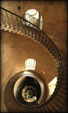 Cantilever staircase in the western bell tower, St. Paul's Cathedral, London, England by tryagain50