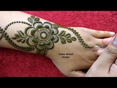 Very Stylish Easy Beautiful Mehndi Design for Hand
