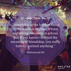 Here's to finding true #connection with friends.