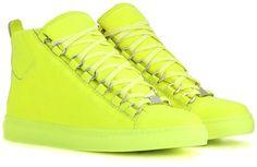 Balenciaga Arena High-top Leather Sneakers | MYTHERESA saved by #ShoppingIS