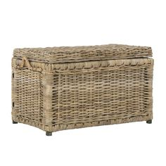 The Happimess Jacob Storage Trunk adds extra storage space and rustic flair to your home. This trunk features rattan wicker construction in your choice. Wicker Storage Trunk, Wicker Trunk, Wood Storage, Storage Spaces, Storage Baskets, Easy Storage, Extra Storage, Decorative Trunks, Game Pieces