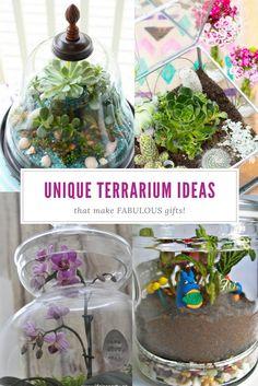 Unique Terrarium Ideas | Succulents | DIY | Glass Planters | Unique Wedding Favors