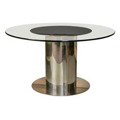 Twirl Dining Table Round Contemporary Design ClearSmoked - Round modern dining table