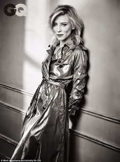 Too busy: Cate Blanchett has claimed that she was too busy to dwell over a Sony hack that saw her Oscar devalued by a male screenwriter