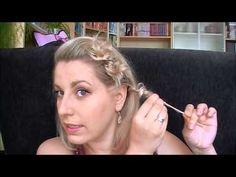 ▶ Haar[Tutorial] feines & halblanges Haar: gezwirbelt - hochgesteckt (SHORT HAIR UPDO) by Lilithmoon - YouTube