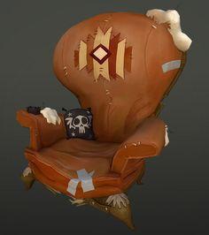Stuart Grayson Post 3D Prop Artist - Based off Carbine, WildStar Chair
