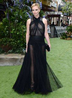 Charlize Theron in Dior S12 by Bill Gayten at the 'Snow White and the Huntsman Premiere'