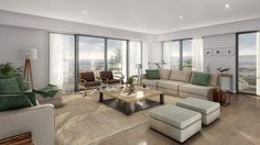 Interiors with lumion 3d Architectural Visualization, Interiores Design, 3 D, Couch, Studio, Architecture, Interiors, Inspiration, Furniture