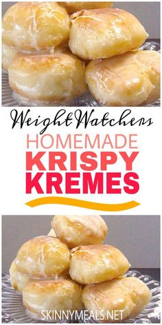 Homemade Krispy Kremes DESSERT is part of Weight watchers recipes desserts - Weight Watchers Breakfast, Weight Watchers Diet, Weight Watchers Desserts, Weight Watchers Muffins, Weight Watchers Apple Recipes, Weight Watchers Cupcakes, Weight Watchers Cheesecake, Wieght Watchers, Weight Watcher Cookies