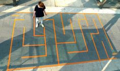"""Spielplatz street art project, turning the streets into a playground. Just one example of """"Urban Hacking"""" this article discusses. Playground Painting, Playground Games, Playground Design, Outdoor Playground, Street Game, Public Space Design, Public Spaces, Urban Intervention, Florian"""