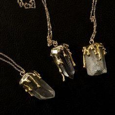 Dripping stone rough quartz necklace