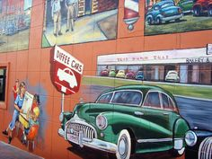 Murals on asbury during the rte 66 festival car show for Diffee motor cars south
