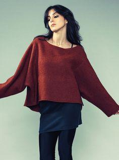 ASYMMETRIC SWEATSHIRT. - I like this sweater....