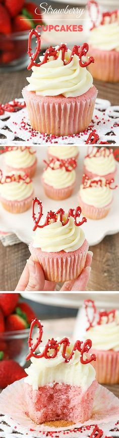 Get the recipe ♥ Strawberry Cupcakes #recipes