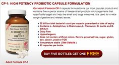 Get a free bottle of Custom Probiotics CP-1 when you buy 5. For anyone who has never heard of probiotics you should definitely check them out.