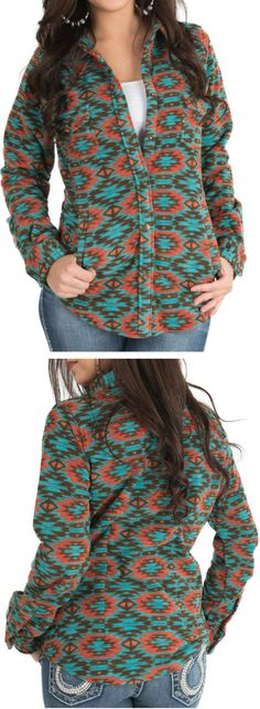 Turquoise and coral Aztec <3