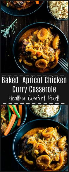 This Apricot Chicken Curry Casserole is comfort food at its best! Rich, hearty, spicy and packed with delicate curry flavour and juicy apricots. This is a dish that hugs you and leaves you feeling good all over.