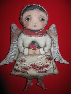 VK is the largest European social network with more than 100 million active users. Doll Painting, Fabric Painting, Fabric Art, Christmas Angels, Christmas Ornaments, Angel Artwork, Felt Angel, Angel Ornaments, Russian Art