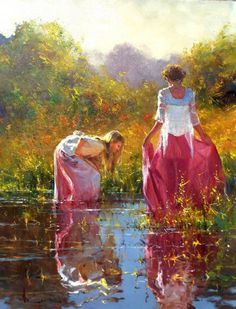 Robert Hagan 1947 Australian Plein-air Impressionist painter