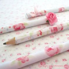 Sweet Rose Pencils